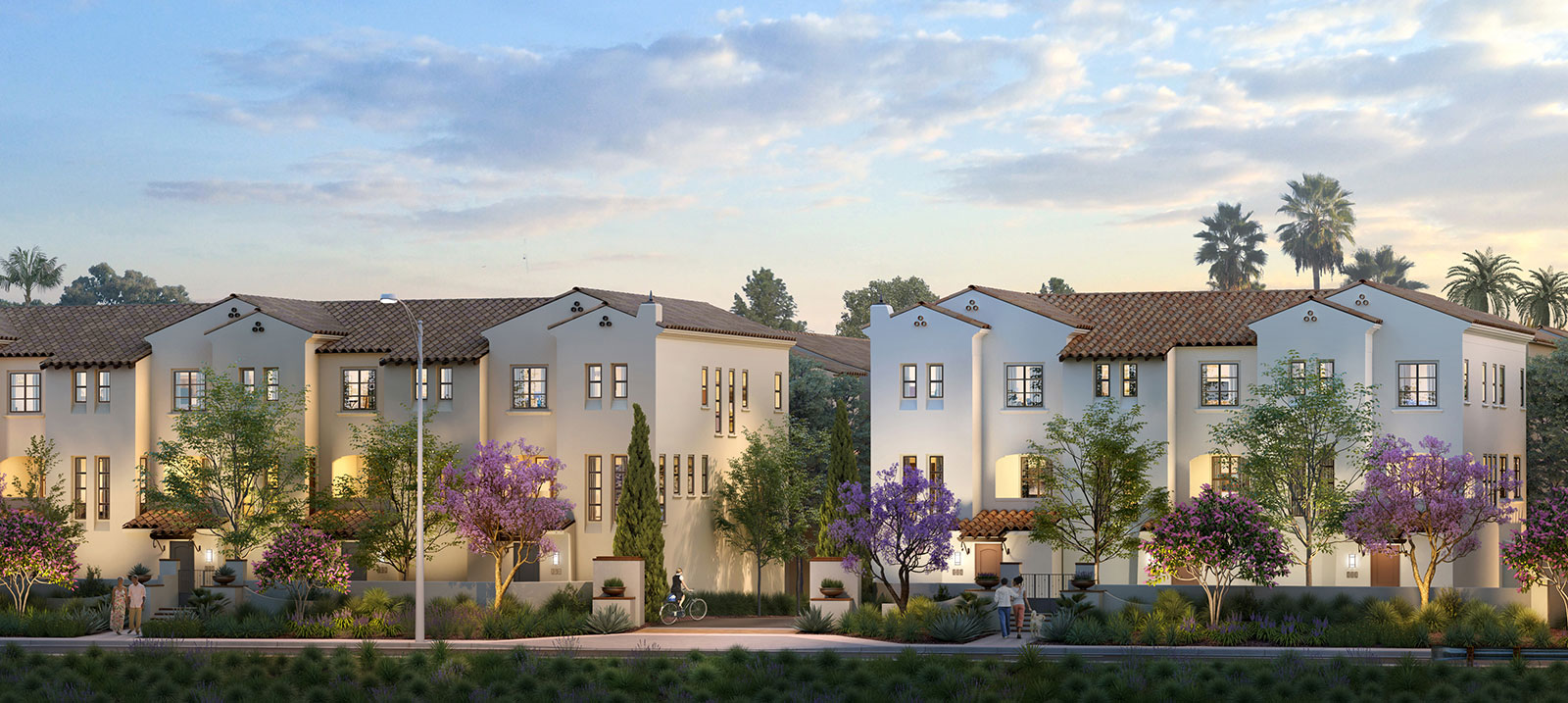 Westside Walk Render, New Costa Mesa Townhomes
